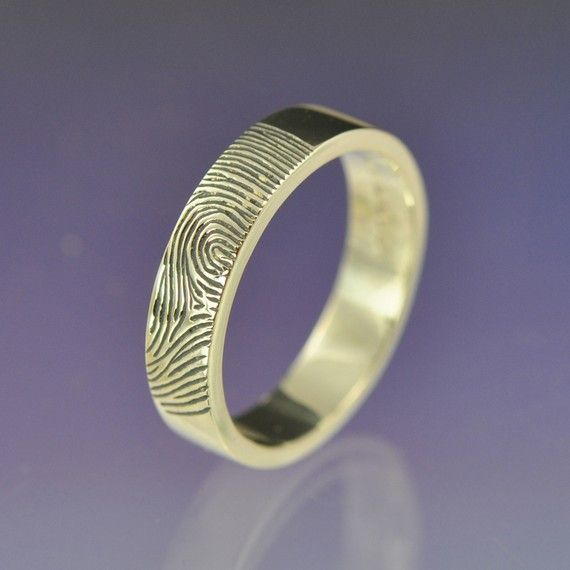 leaving your finger print on his wedding band.... love it!
