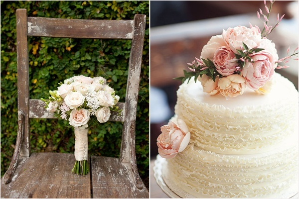 vintage bouquet, vintage cake wedding-cake