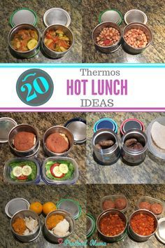 There are variety of hot lunches you can pack in thermos containers for school lunch. These practical ideas will not require much prep and planning.