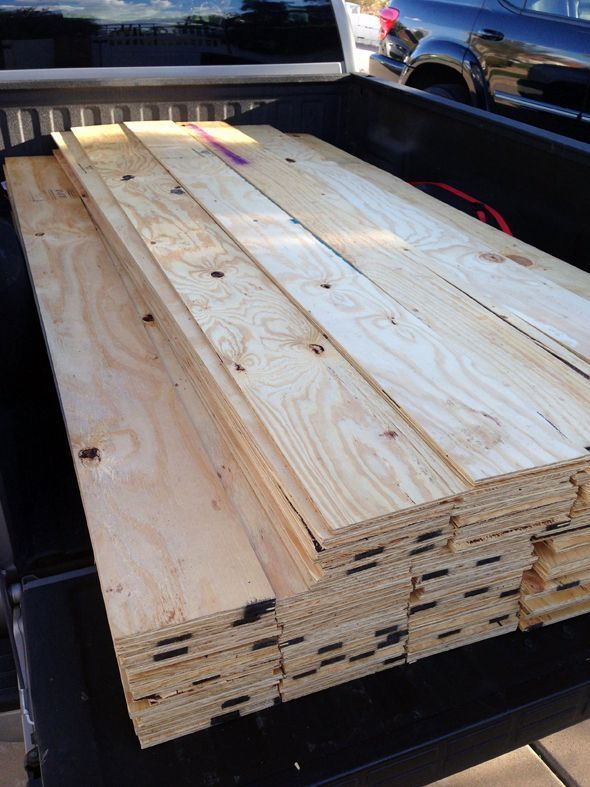 Cut down a few sheets of plywood and use them for the horizontal planked walls…