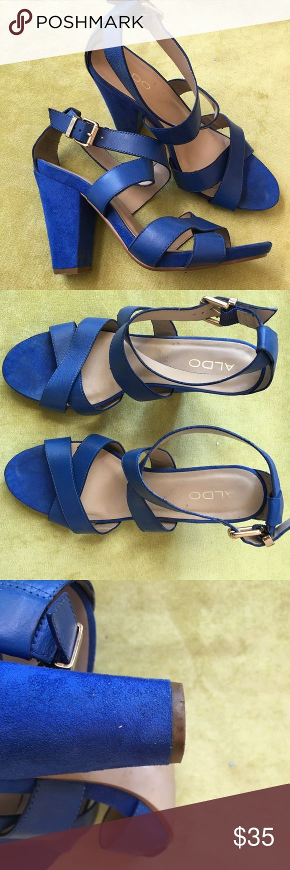 Aldo Heels Beautiful Aldo heels in a gorgeous blue color! Gently worn and perfect for many occasions! Aldo Shoes Heels