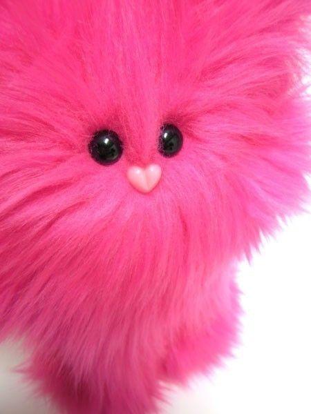 Plush Monster -- Hot Pink Petunia -- Cute Stuffed Animal. $36.00, via Etsy.