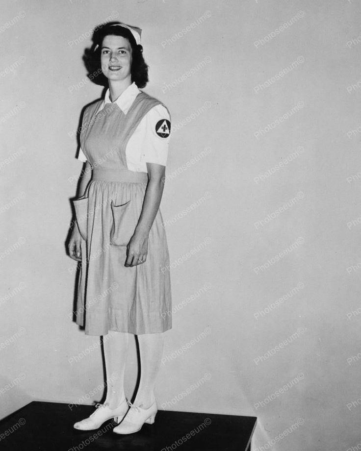 Military Defense Lady Volunteer Vintage 8x10 Reprint Of Old Photo