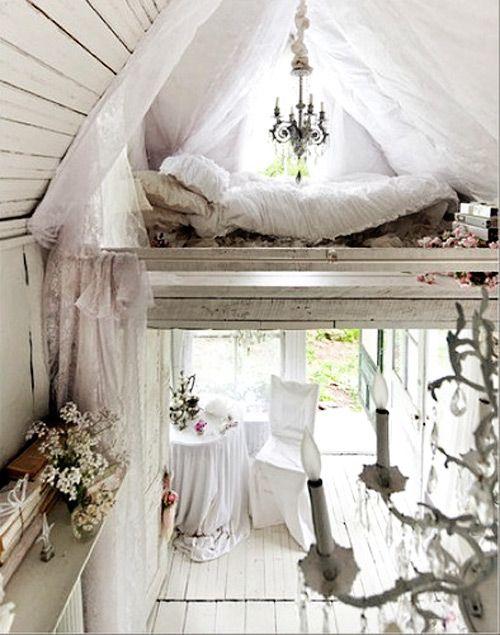 simple white cabin