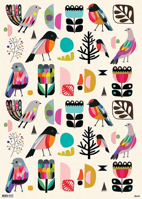 Forest Birds FLAT IW-FB FL FOLD IW-FB FA