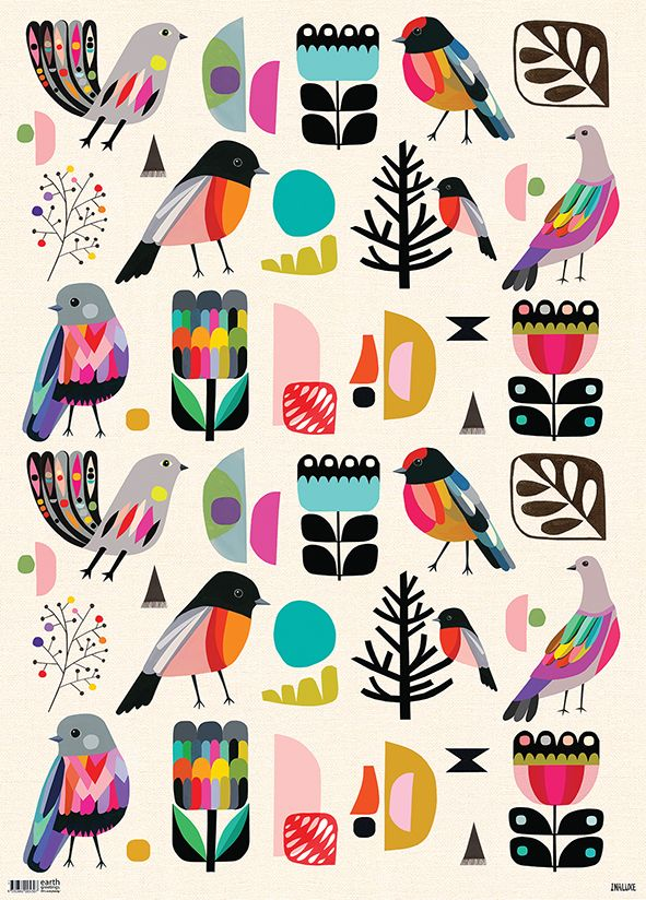 Forest Birds FLAT IW-FB FL FOLD IW-FB FA