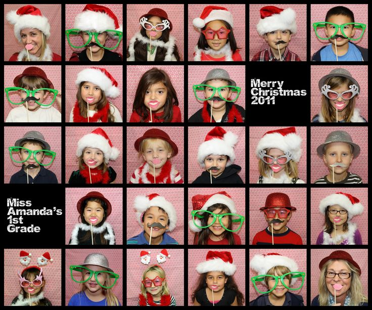 1st grade class christmas party photo booth - photobooth