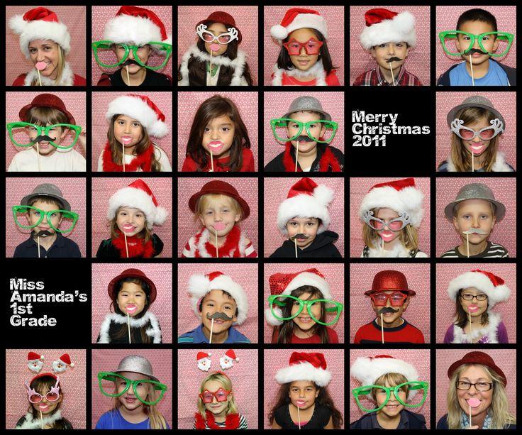 1st Grade Christmas Party Ideas Part - 28: 1st Grade Christmas Party Photo Booth - Photobooth