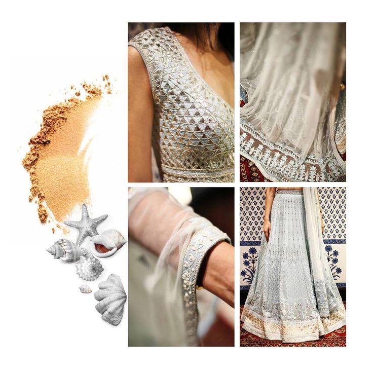 Wedding themes start here… What kind of a bride are you? Seen here is an aquatic bride.  #TheWeddingDiaries #ThemedWeddings #AquaticBride #powderblue #AnitaDongre #WeddingInspiration #gotapatti #Rajasthan #Jaipur #Bride
