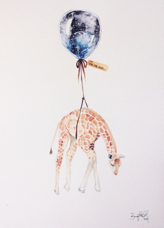 Far, Far Away VII   #illustration #art #giraffe