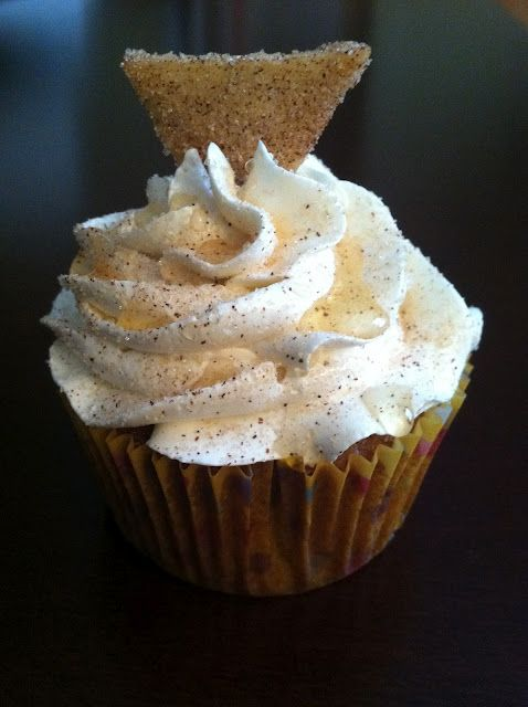 sopapilla cupcakes.... this is probably my favorite dessert...never in my life did I think I would see it as a cupcake!!