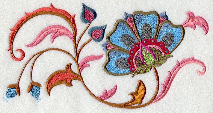 Jubilant Jacobean Bloom Rectangle 2