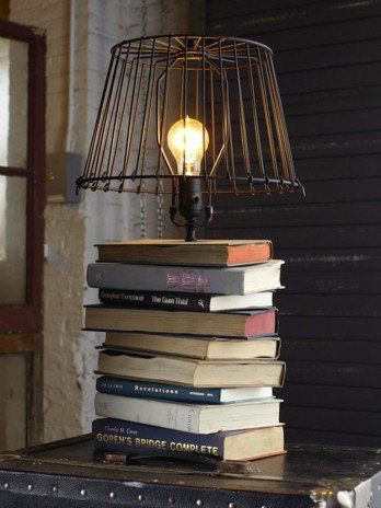 DIY Projects How To Repurpose A Book Into A Lamp