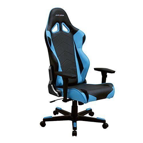 DXRacer RE0/NB Black Blue Racing Bucket Seat Office Chair