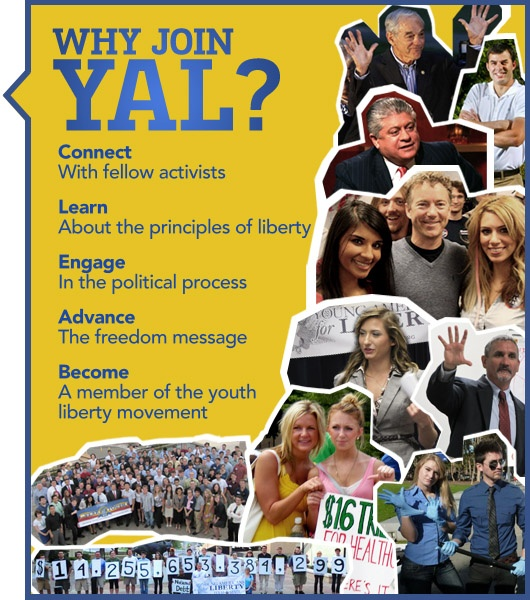 Young Americans for Liberty - Join For Chance to Win T-Shirt