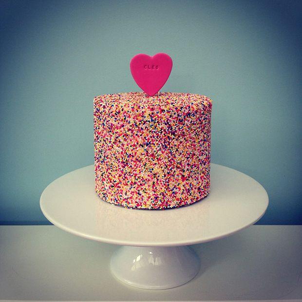 Sprinkled With Love Cake Topper