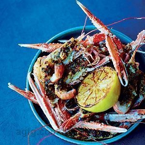 Scampi with Saffron and Olive Butter - Chef Recipe by Nathan Outlaw