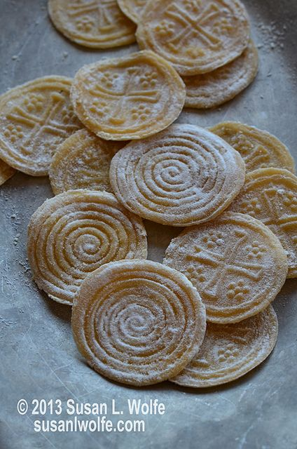 Homemade Dried Croxetti Pasta by {Susan Wolfe}, via Flickr #Italian #recipe #eggpasta #stamped #design