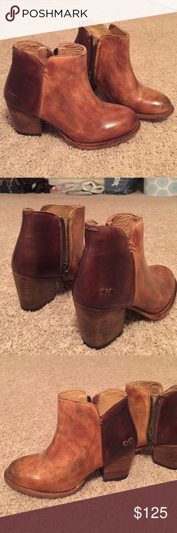 NEW Bed Stu Two Toned Leather Booties! NEW Bed Stu Two Toned Leather Booties! Size: 7.5!!! Brand new, never been worn, in PERFECT condition!!! These shoes are amazing and SO well made!!!! These will last you years and years and still look new!! Do not come with original box! Bed Stu Shoes