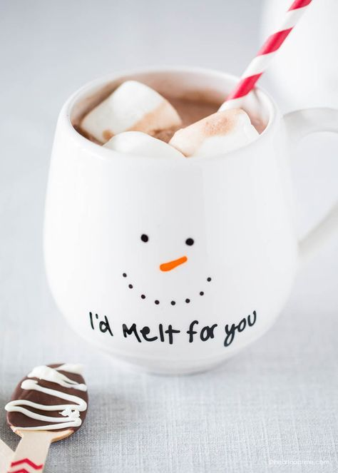 We melt for this DIY holiday project by @Iheartnaptime ! She made this cheeky and 100% food safe holiday mug using Painted By Me! See how you can create your own DIY Christmas or holiday mug on iLoveToCreate's blog or at http://iheartnaptime.com!