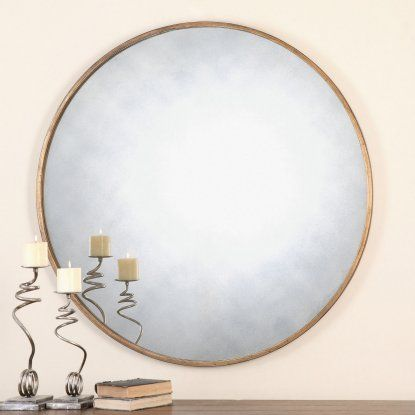 Uttermost Junius Round Gold Mirror - 43 diam. in. - Mirrors at Hayneedle