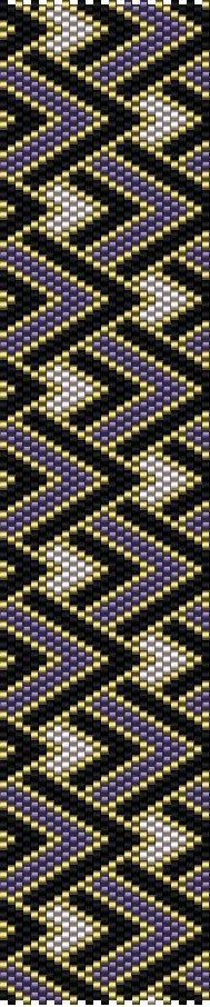 DIY Peyote Pattern Purple Gold Black bracelet par MarmosaArt Plus