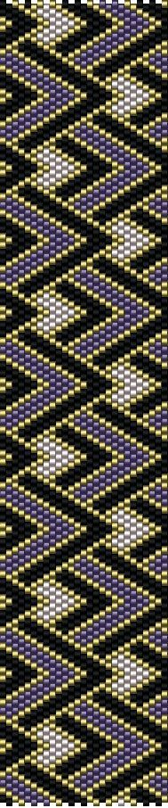 DIY Peyote Pattern - Purple Gold Black bracelet - Beaded Cuff Bracelet - PDF…
