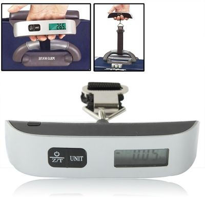 [$4.31] Mini Handheld Luggage Electronic scales with Zero and Tare(Black)