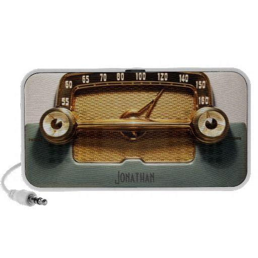 Vintage Radio - Classic Laptop Speaker. get it on : http://www.zazzle.com/vintage_radio_classic_laptop_speaker-166830480780635622?rf=238054403704815742&tc=pinterest