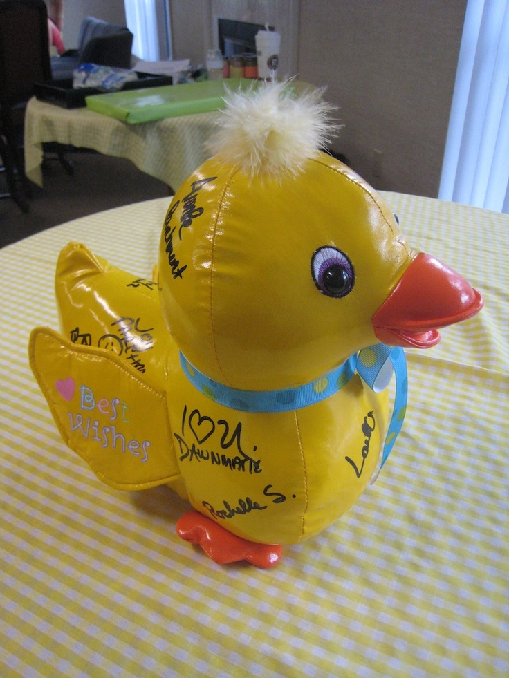 Rubber Duck baby shower- found at Party City