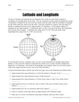 Printables Latitude And Longitude Worksheets For Kids 1000 images about social studies latitude and longitude on longitude