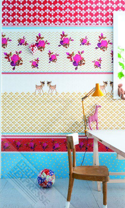 Behang van Studio Onszelf uit de collectie Sweet Baby. #Kinderkamer #behang #nursery #wallpaper