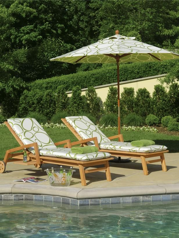Shorea Wood Chaise Lounge from Oxford Garden, Outdoor Patio Furniture
