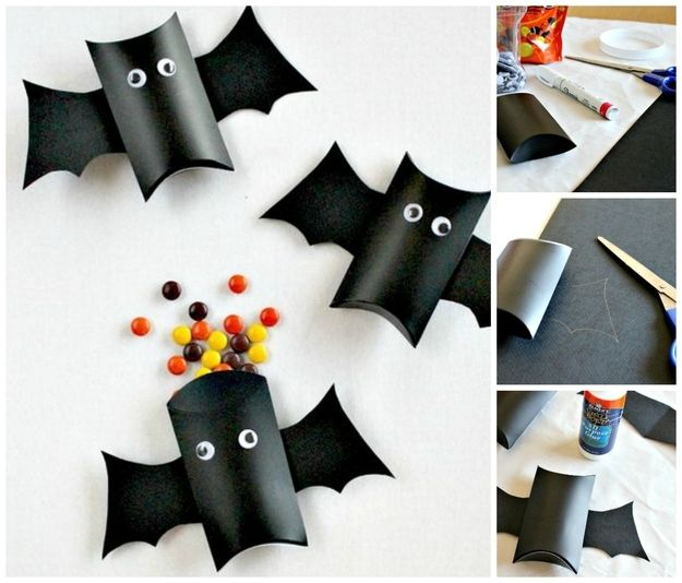 Bat Boxes | 20 DIY Halloween Bags, Baskets, And Bowls