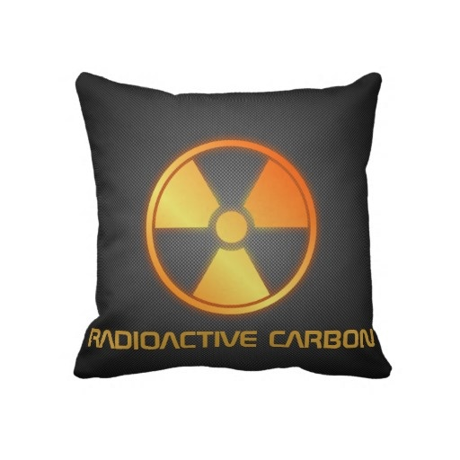 radioactive carbon fiber pillow by BannedWare