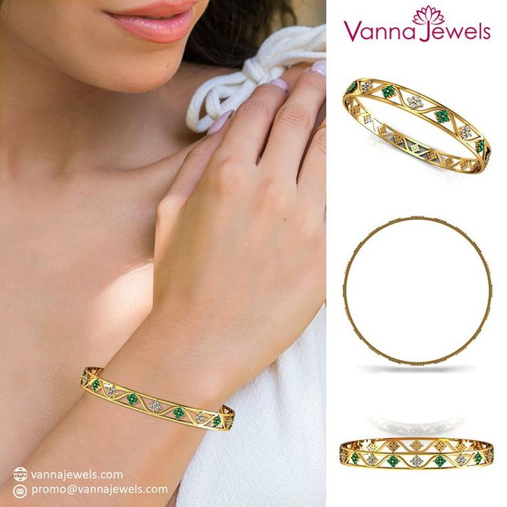 Natural Emerald Designer Gemstone Bangle Bracelet Single Line SGL Certified Diamond Jewelry Set in Solid 18k Yellow Gold