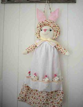 Cream Vintage Floral Rabbit PJ Case