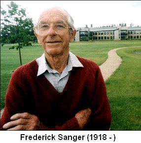 Dr Frederick Sanger (1918-2013) - double Nobel Prize winner and discoverer of the insulin structure - has died, 95 years old.