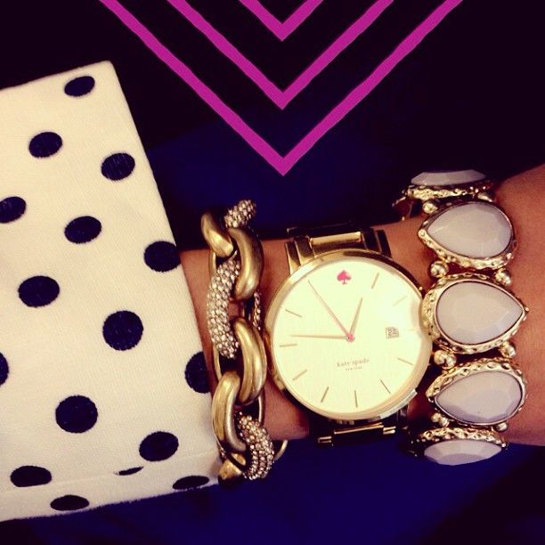 Kate Spade...perfectly stacked. Ha I have that lavender bracelet, only $5.