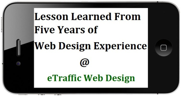 "What We Have Learned In Our Five Years Of Experience As ""Web Design Service Provider""?"