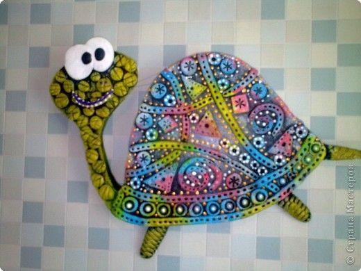 Картина панно рисунок Лепка черепашка Гипс фото 1