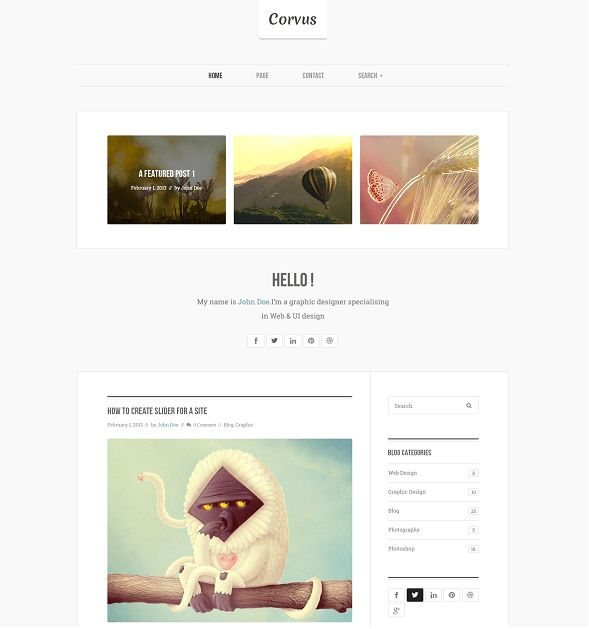 ST Blog is a responsive Joomla blog template with clean design and support for Joomla 3 & 2.5. If you want site have required functions for a blog site, you should choice ST Blog.