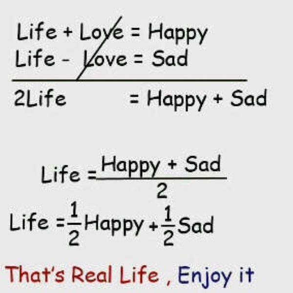 【これは深い…】悲しみの分だけ幸福があるといえる「人生の方程式」(画像) | COROBUZZ