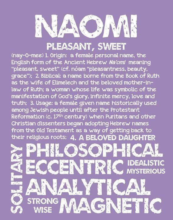 NAOMI Personalized Name Print / Typography Print / by OhBabyNames
