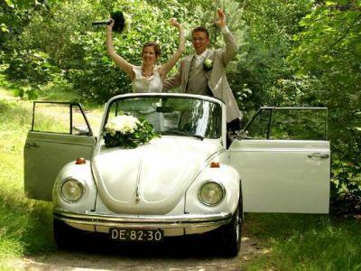 Trouwauto VW Kever Cabrio