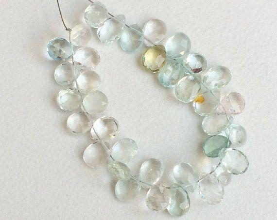 Multi Aquamarine Beads Multi Aquamarine Faceted by gemsforjewels