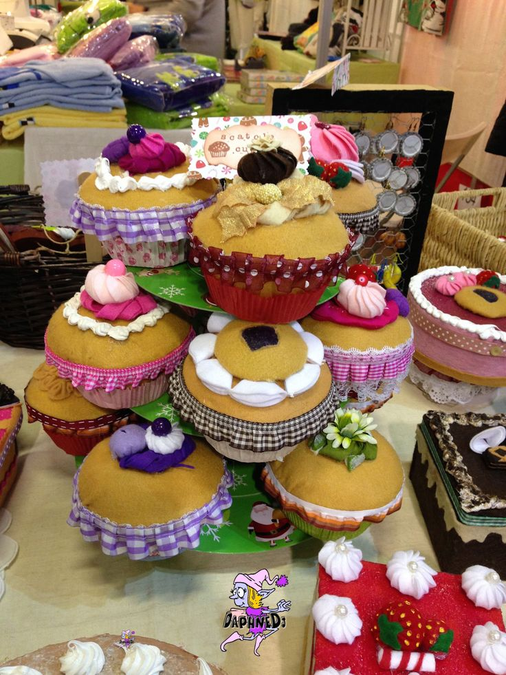 cupcakes in a stand...