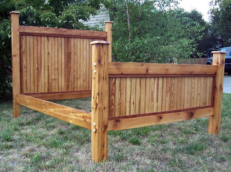 heart pine bed frame made from reclaimed antique barnwood - Pine Bed Frame