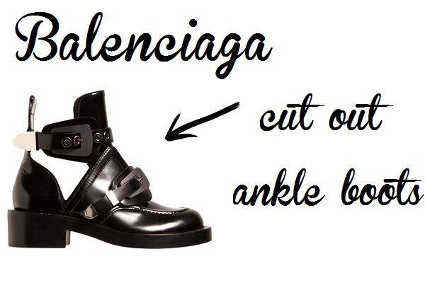 Αγόρασε τώρα τη Νο1 τάση στα μποτάκια #balenciaga #boots #ankleboots #shopping #shoes #balenciagaboots #cutoutboots #blackboots