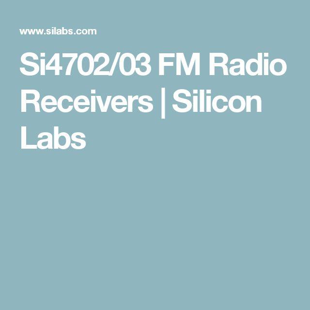 Si4702/03 FM Radio Receivers | Silicon Labs